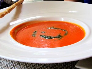 Bell pepper tomato soup