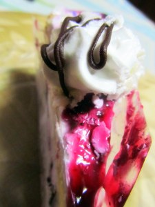 Exotic blueberry pastry