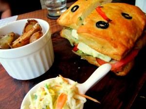 Herbed focacia sandwich