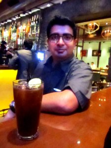 M with his Long Island Ice Tea
