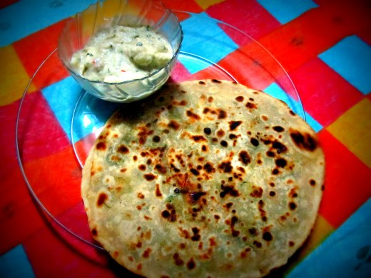 Paneer with mixed veg paratha