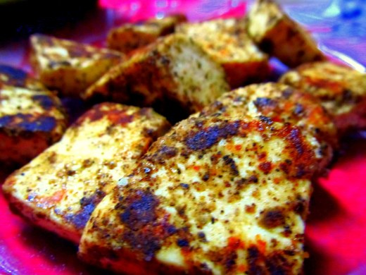 Black peppered paneer