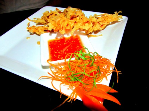 Crispy fire cracker prawns