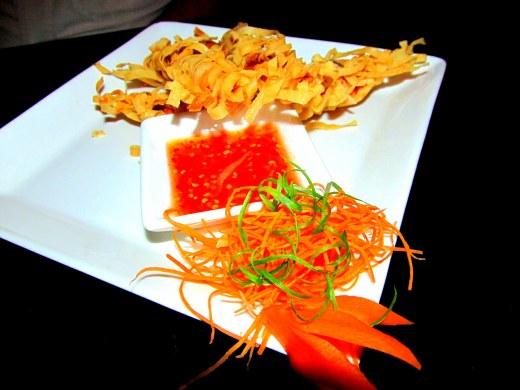 Crispy fire cracker prawns