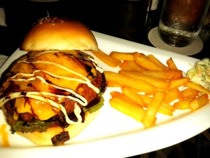 Prime grilled beef burger