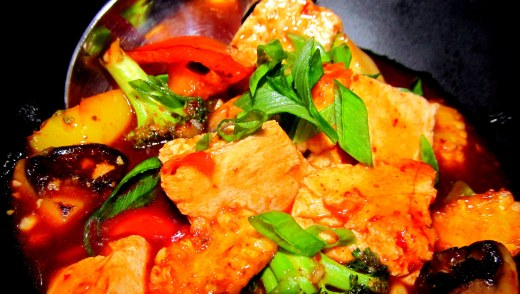 Seasoned Korean style tofu with vegetables