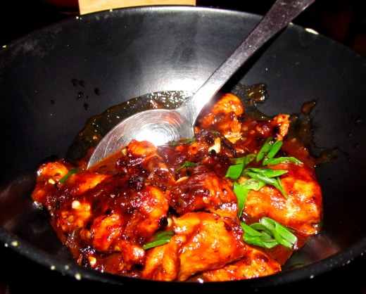 Seasoned Korean styled stir fried chicken