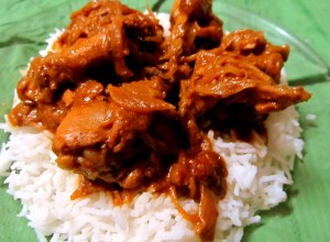 Chicken masala with rice