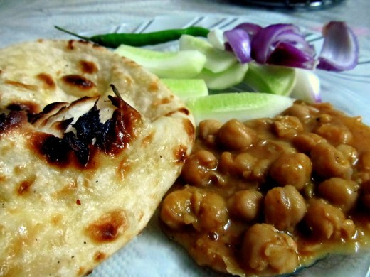 Chole with butter naan