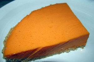 Orange cheesecake - quartered