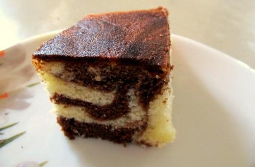 marble cake slice