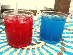 Strawberry cooler n Sky cooler
