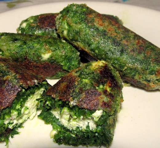 Spinach n Paneer croquettes
