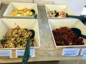 non veg salad spread pic