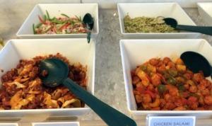 non veg salad spread