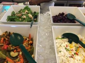 veg salad spread